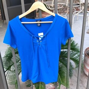 NWT! Lace up Top